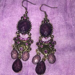 Purple Bling Earrings